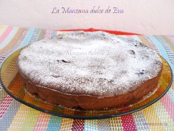 clafoutis de chocolate y frambuesas