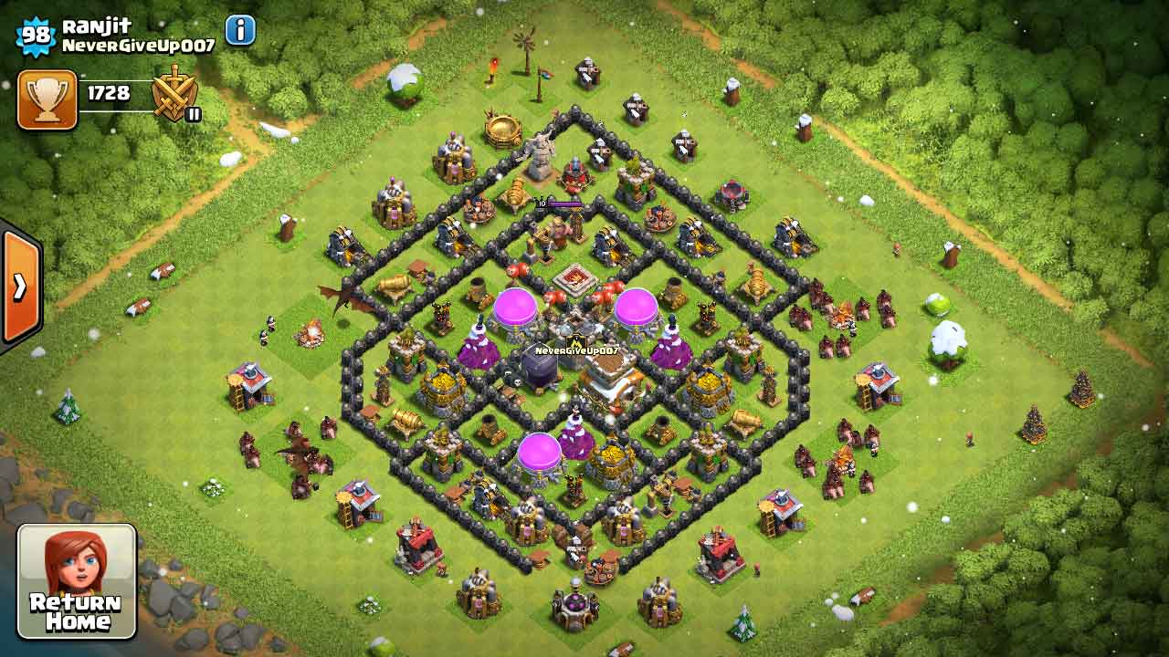 Top 10 Clash of Clans Unbreakable Town Hall 8 Defense/War bases 2016