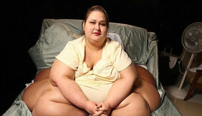Perempuan si empunya berat badan 500 kg