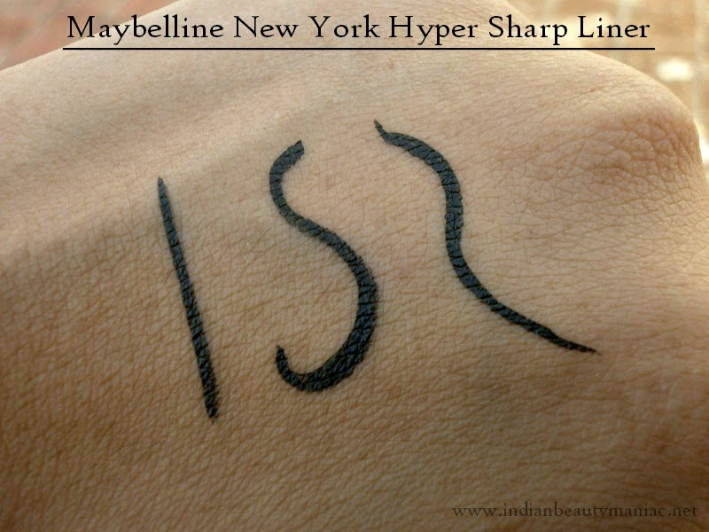Maybelline New York Hyper Sharp Liner Swatch