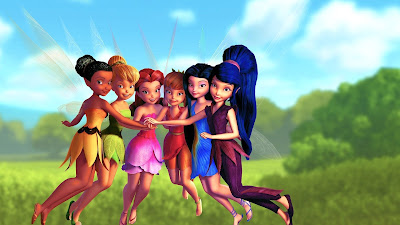 Tinkerbell and friends from disney animated fairytale Tinker Bell Series hd wallpaper