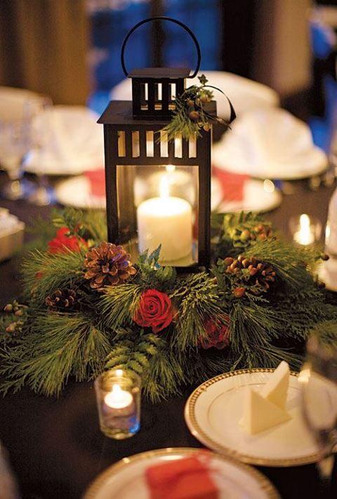 Winter Wedding Lantern Centerpieces | Things Festive Weddings & Events