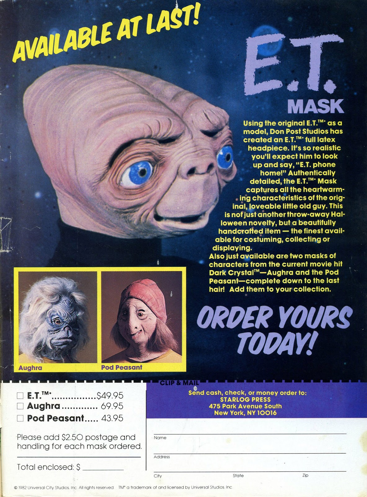 Et Mask For Sale