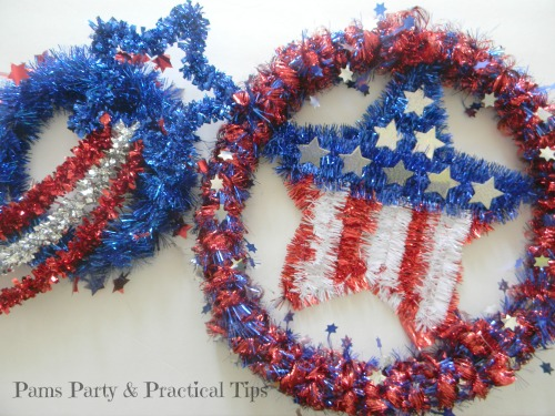 Easy 4th of July Craft, 4th of July Wreaths