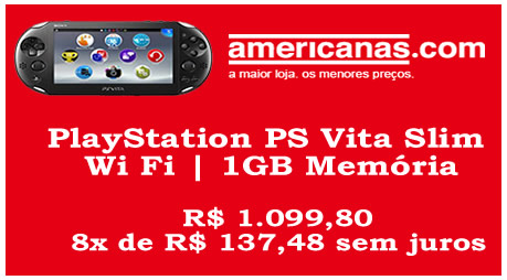 PS Vita Slim Wi Fi + 1GB Memória