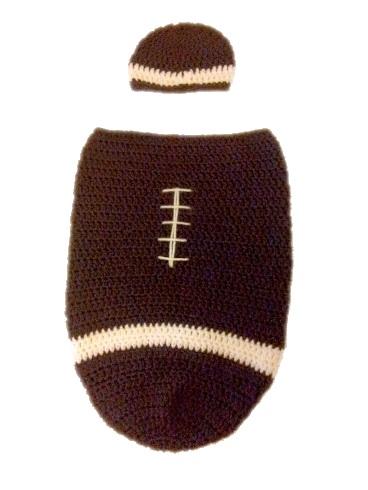 Holystitchpatterns Newborn Football Cocoon