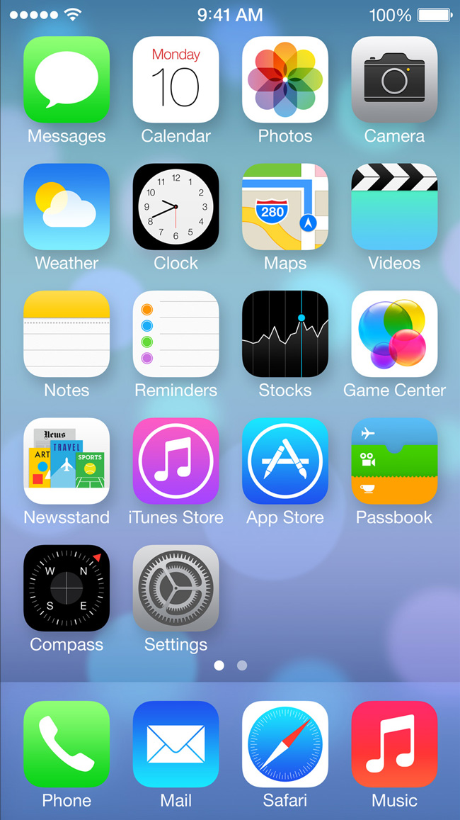 iphone ios 7 control icons