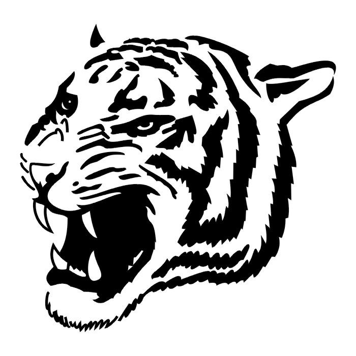 Roaring Lion Profile Tattoo TATTOOS: Tiger And Lio...