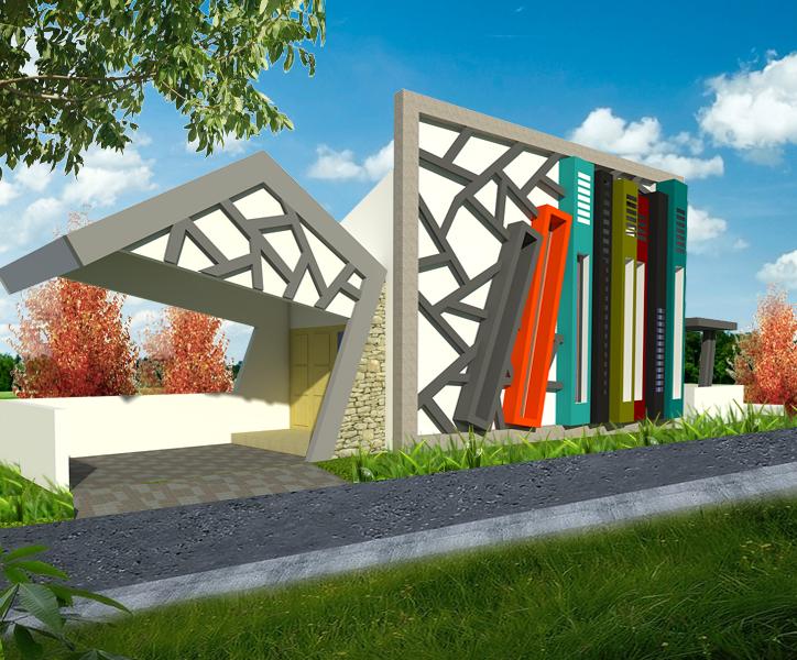 Ilmu Dunia: Desain Taman Baca Masyarakat Tugas Studio Bentuk II Arsitektur  UTY