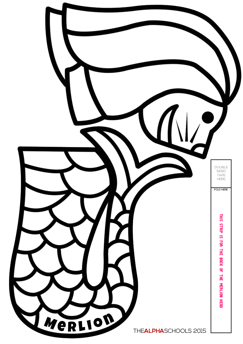 Singapore Merlion - Free Coloring Pages