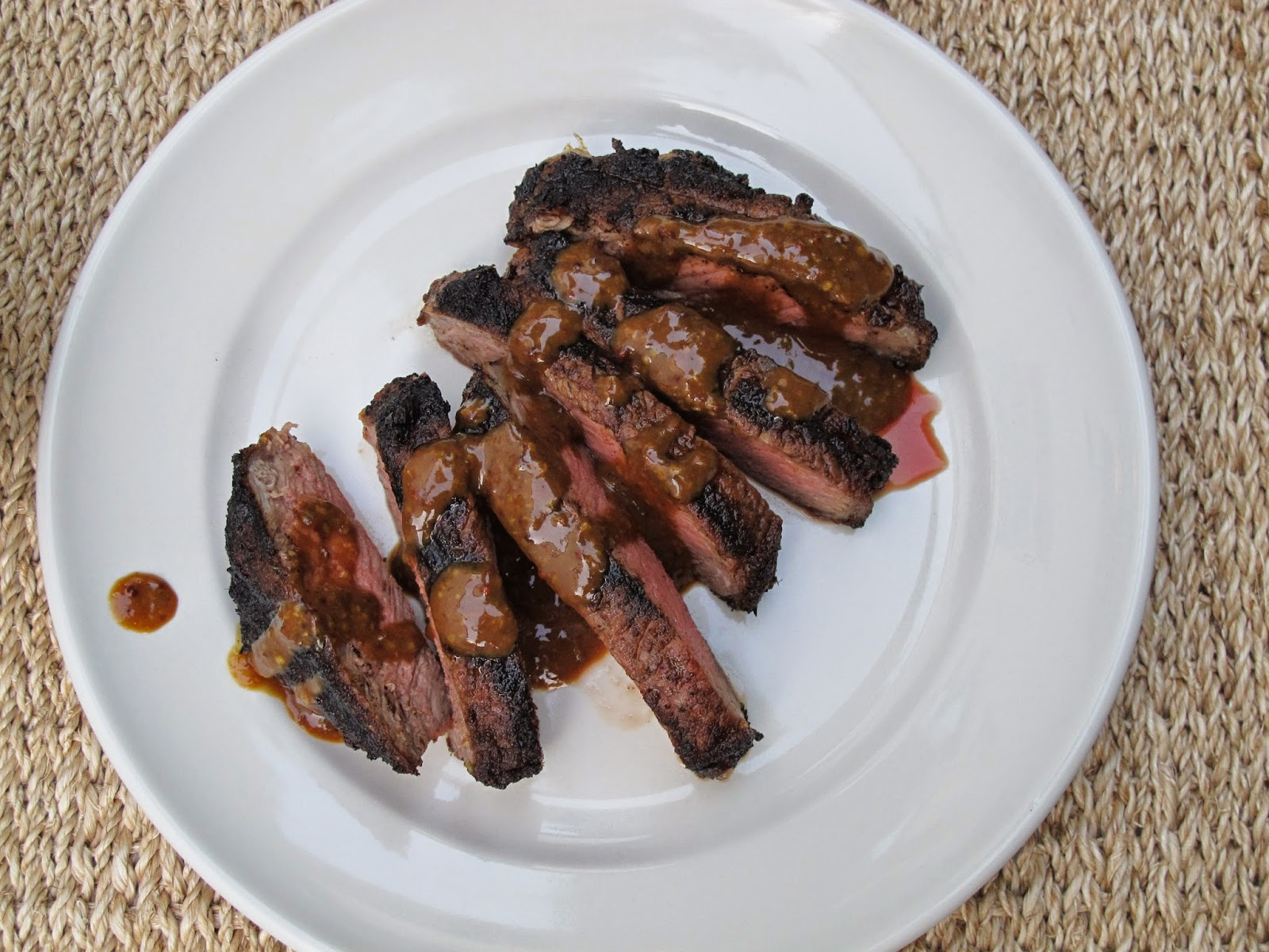 Grilled Spice-Rubbed Rib Eye Steak