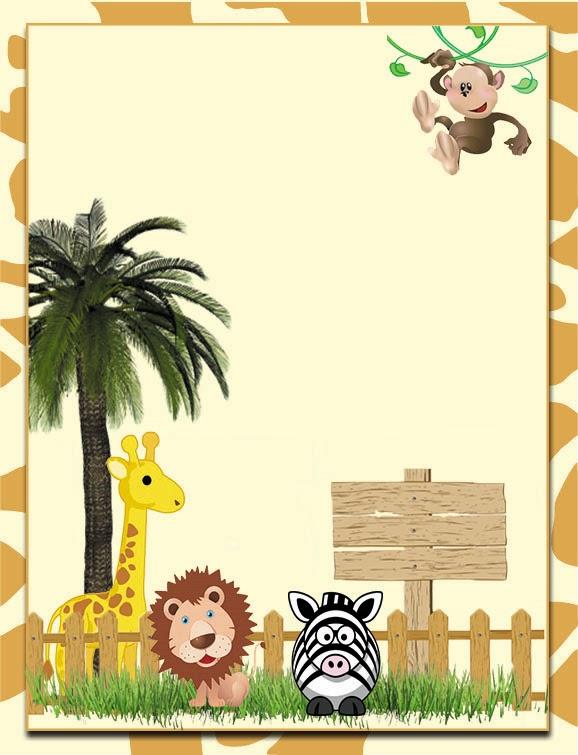 Kit Digital de Aniversário Tema Safari para Imprimir  Convites