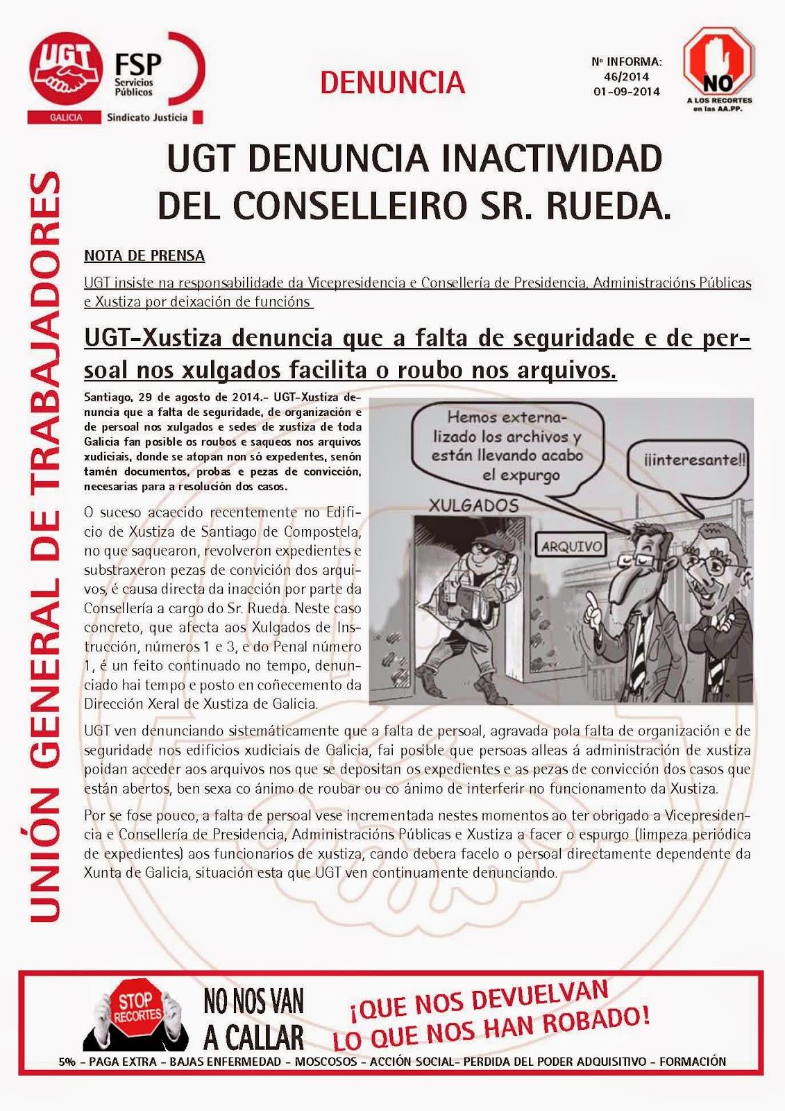 Ugt justicia galicia roban una caja fuerte y pruebas del c dice en los juzgados de santiago - Oficina virtual de caja espana ...