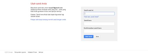 cara mengubah password gmail google