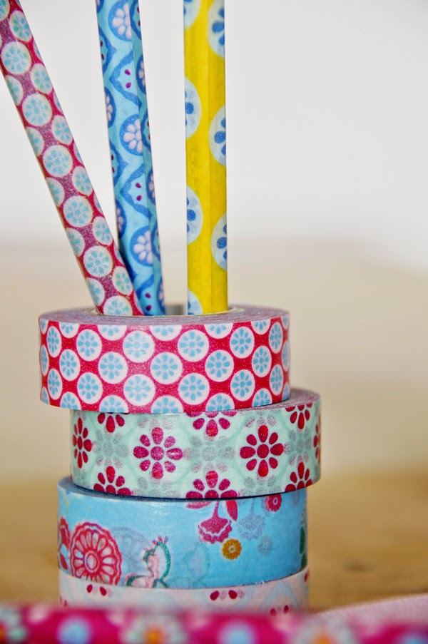 Masking Tape Bastel Idee mit Beistiften