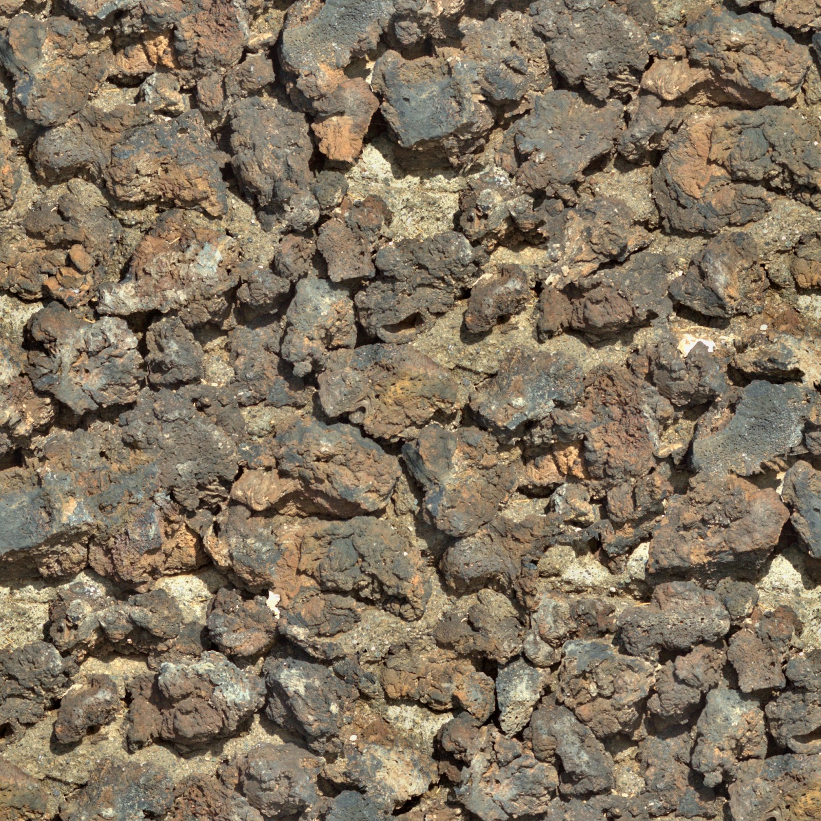 Rocky stone coloured wall seamless texture 2048x2048