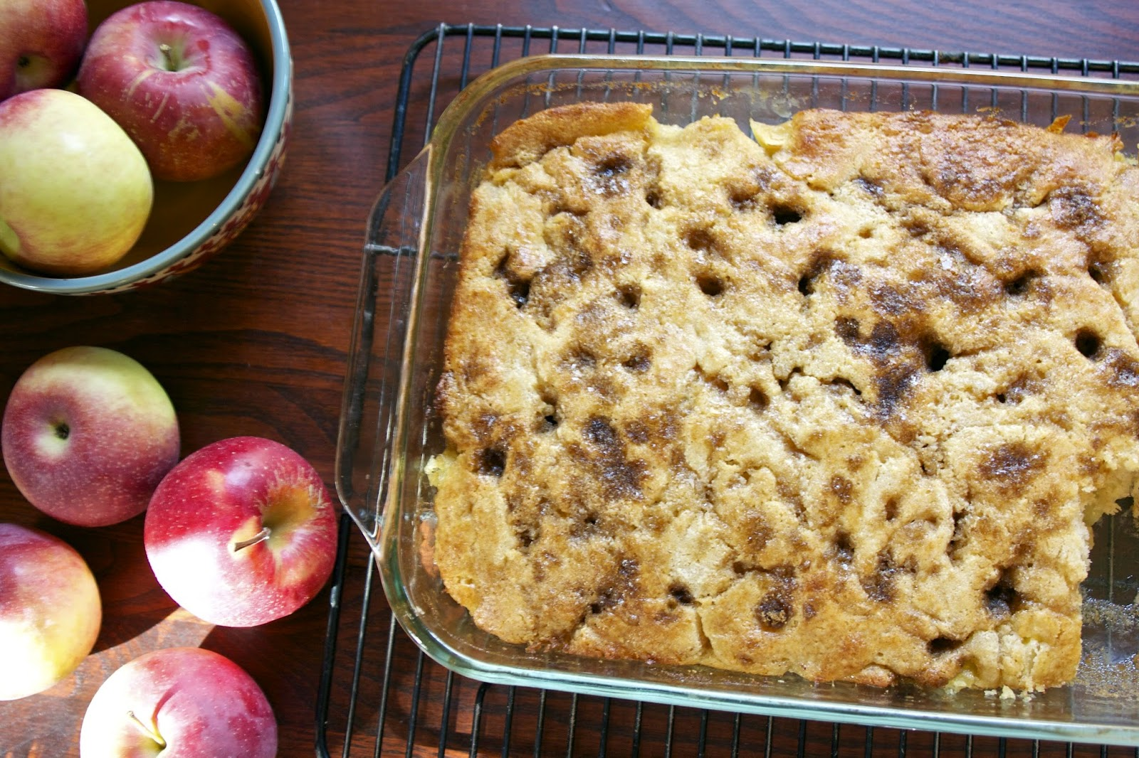 Brown Sugar & Cinnamon Apple Cake- simplelivingeating.com