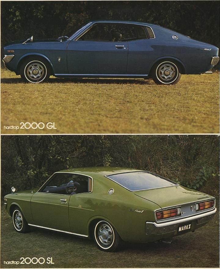 Toyota Corona Mark II, hardtop coupe 2000GL, japoński stary samochód, zdjęcia, トヨペット