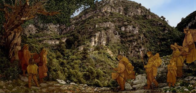 cueva de bolomor , contexto orografico y humano