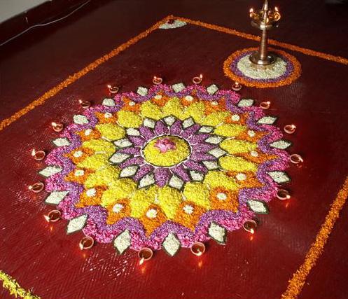 30 amazing rangoli designs with flowers