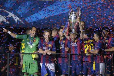 Foto Barcelona Juara Liga Champions 2015 dan Raih Treble Winners, Setelah Pecundangi Juventus 3-1