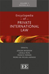 Encyclopedia of Private International Law 2017