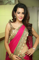 Deeksha Panth in Pink Half-Saree