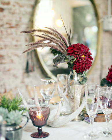 vintage thanksgiving centerpieces