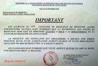 Note au postulants du concours de résidanat (2011/2012) - Faculté de médecine de Constantine - Algérie