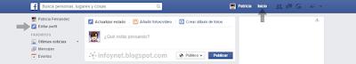 Editar perfil desde la página de Inicio de Facebook