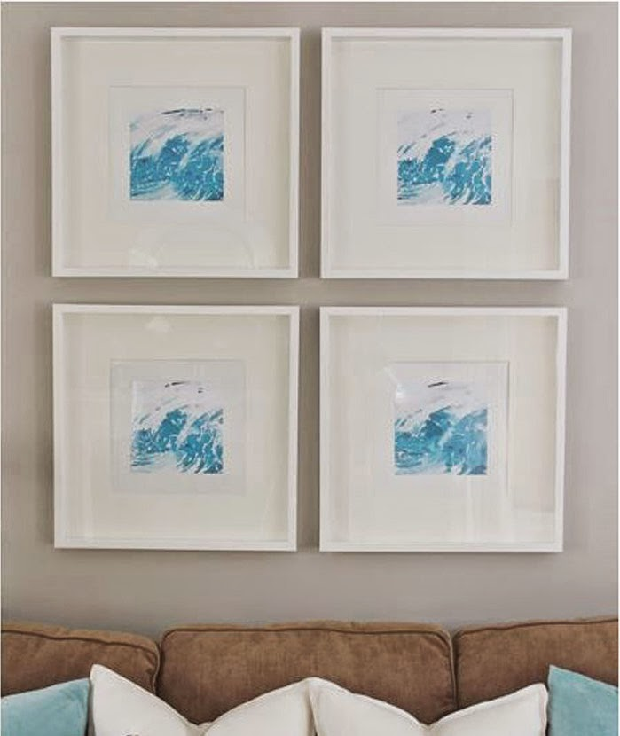 Simple These stylish graphic prints are made by pulling a photo into the Waterlogue App and then printing them out framed in IKEA RIBBA frames