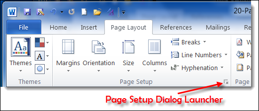 Page Layout Tab Word 2010 Page Layout Tab of Ribbon in
