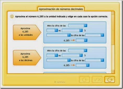 Aproximación de decimales.