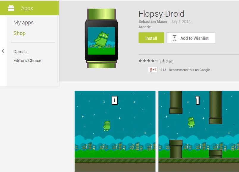 Juego Flopsy Droid en Google Play