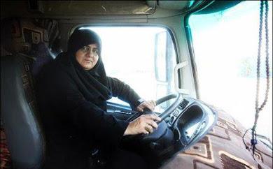 زن لرستانی؛ اولین راننده زن تریلر در ایران