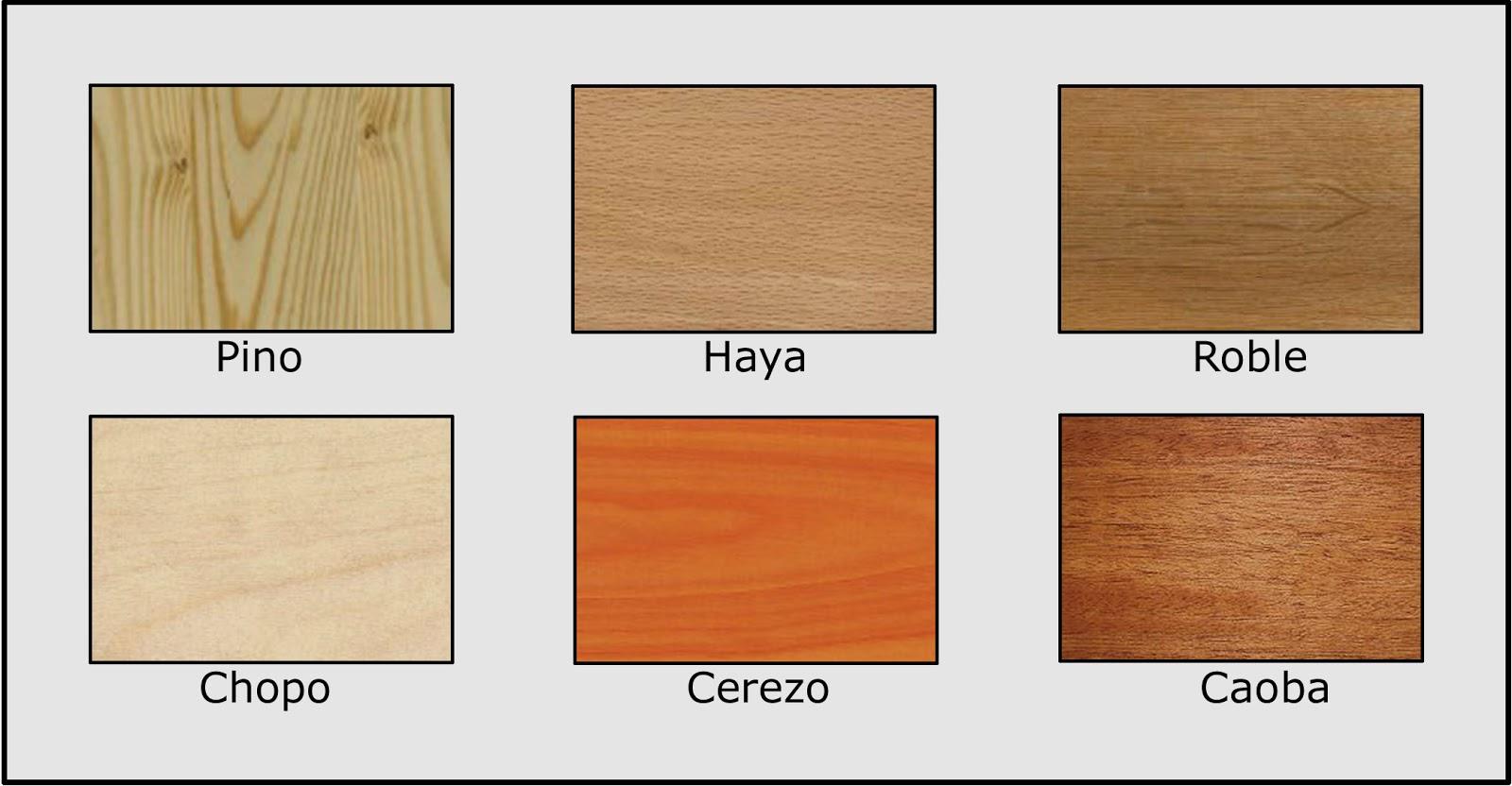 La ebanister a tipos de madera para construccion y for Tipos de muebles de madera