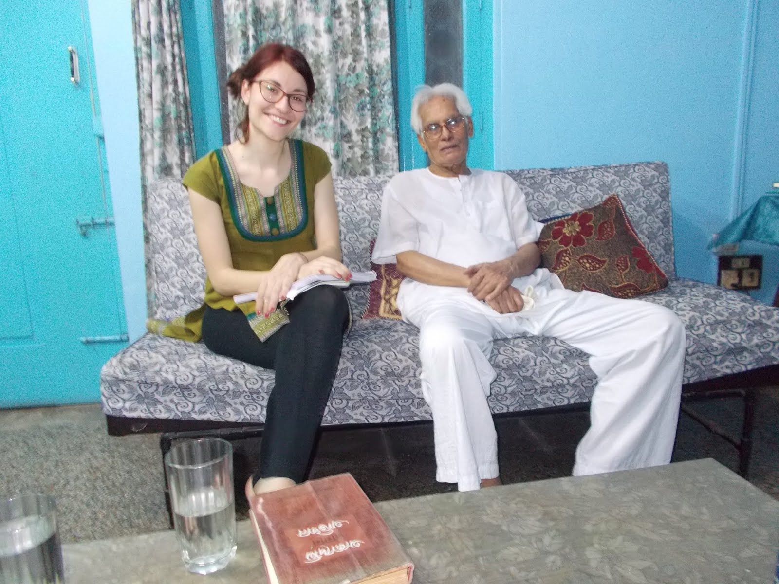 Daniela Cappello interviewing Samir Roychoudhury in 2015
