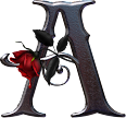 Lindo Alfabeto com Rosas Vermelhas em Png