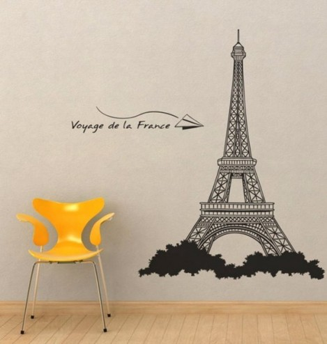 Fashion design eiffel tower wall art decor paris room d cor for Art decoration france