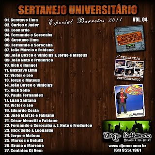 Dj Nem   Sertanejo Universitario Vol. 04