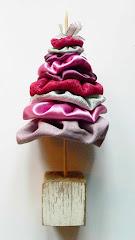 így készül a textil karácsonyfa...