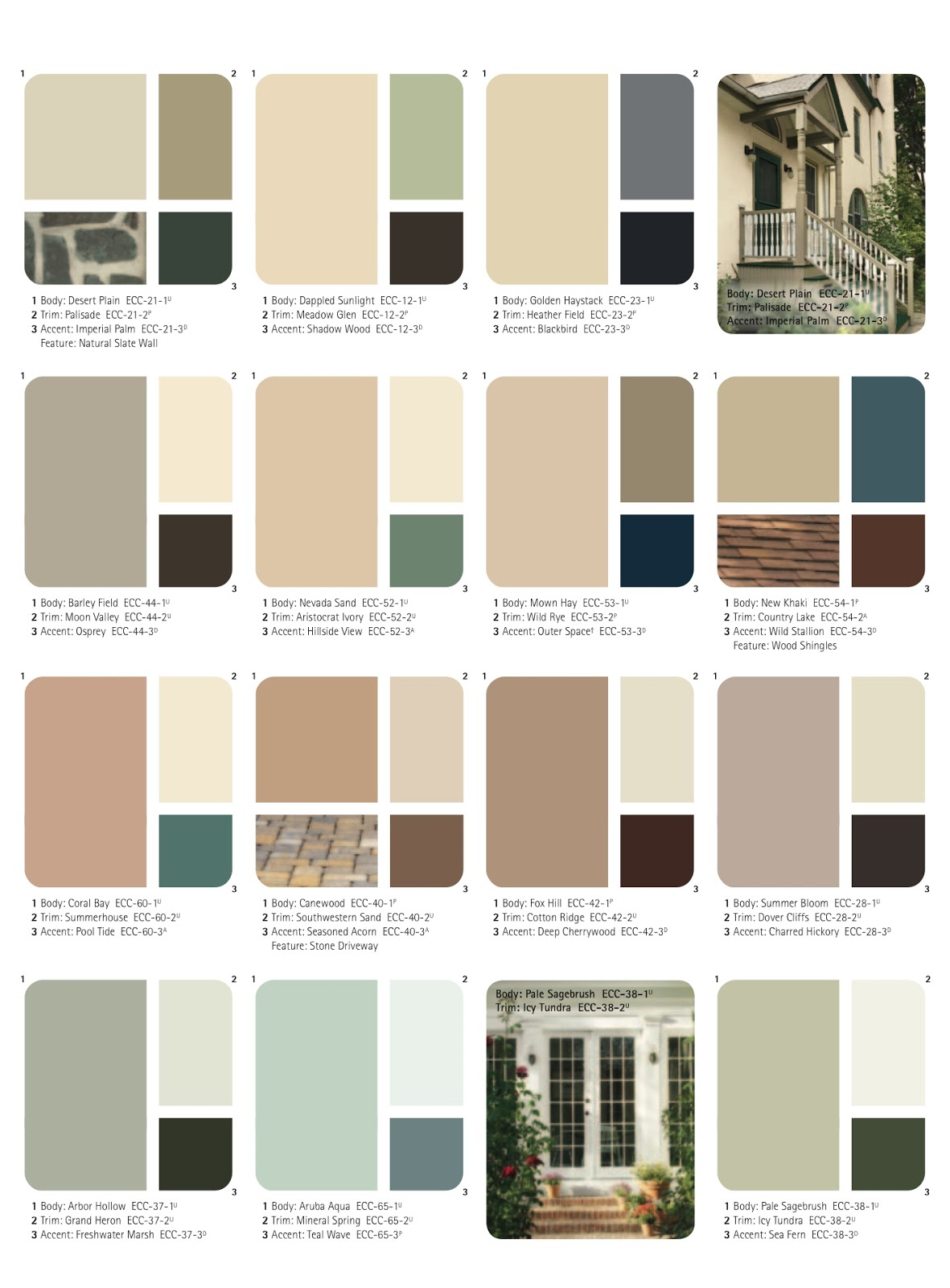 Ange 39 s dollhouse choosing the exterior color scheme - House painting colors exterior schemes collection ...