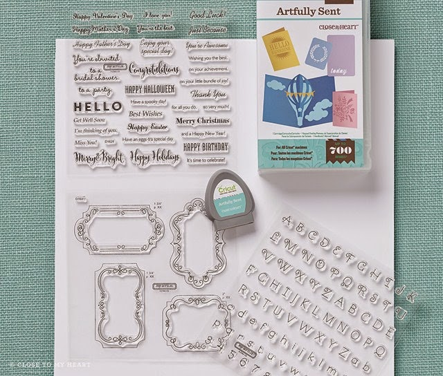 Woot!  Artfully Sent - the newest exclusive Cricut cartridge bundle is now available~