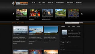 Dokumedia Black Gamer Blogger Template