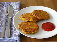 Curried Carrot, Zucchini and Almond Feta Fritters