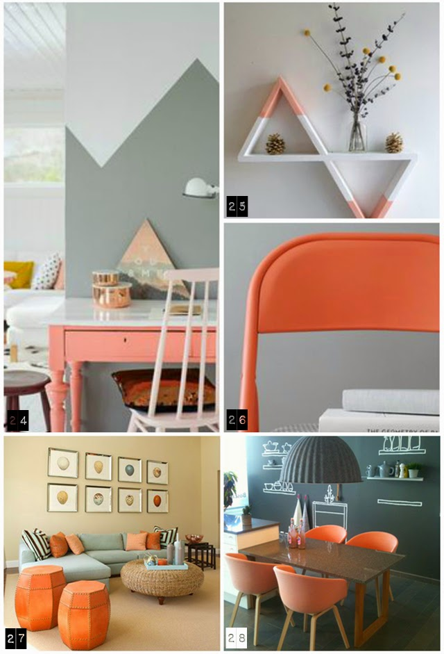 34 ideas para decorar con durazno peach y rosa empolvado for Gama de colores para pintar paredes