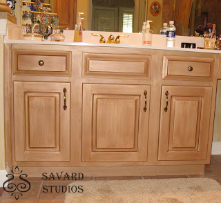 master bath cabinet, painted cabinet, metallic painted vanity