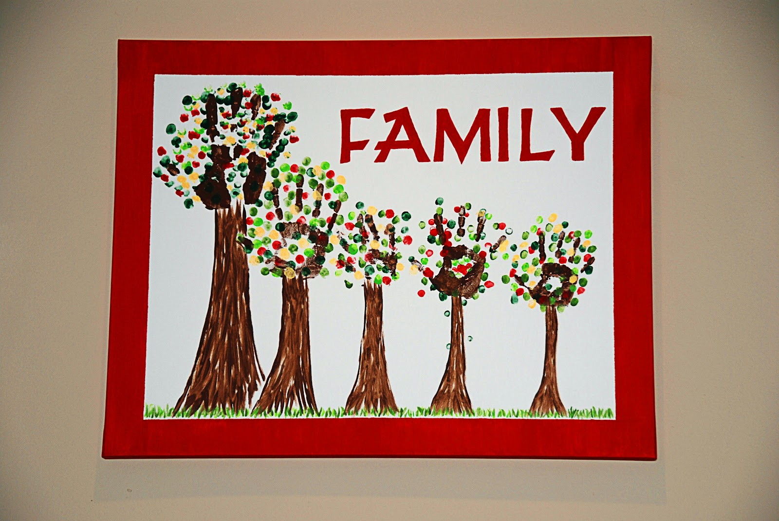 marshall makes family tree art project