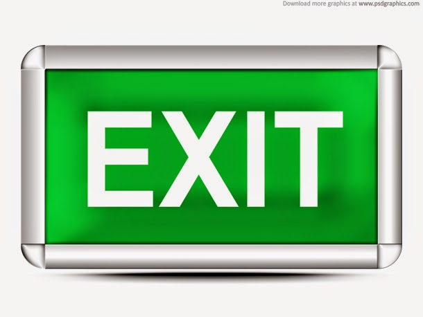 Green Exit Sign PSD