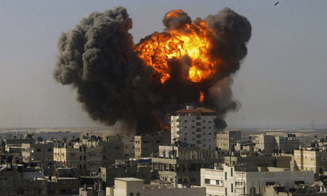 Israel vs Hamas: Deadly Theater  gaza airstrike 2009 001
